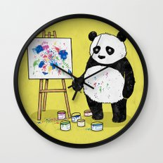 Panda Painter Wall Clock