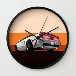 White Honda Acura NSX Wall Clock