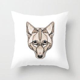 Edges (Coyote) Throw Pillow