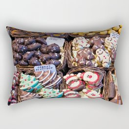 "Candy counter for sale in barcelona market ""la bocateria"" Rectangular Pillow"
