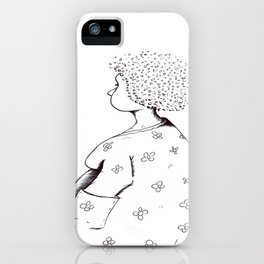 Frisking for coins iPhone Case