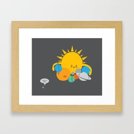 Hugs are for Planets Only Framed Art Print