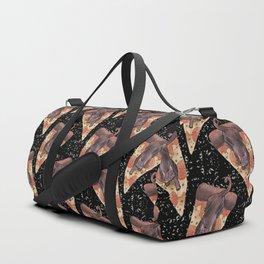 cat galaxy pizza stars Duffle Bag