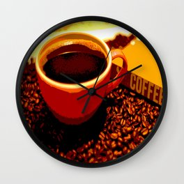 One Cup at a Time Wall Clock