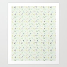 Lines and Animals Art Print