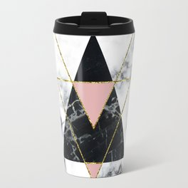 Geo glam marble Travel Mug