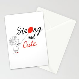 Strong and Cute Stationery Cards