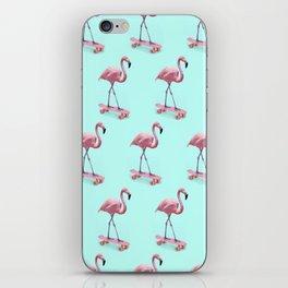 Skating Flamingo iPhone Skin