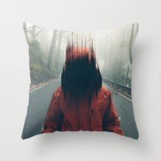 Face into the Abyss Throw Pillow