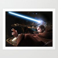 Art Print featuring Obi Wan Kenobi - The Power of The Force! by jcalum2012