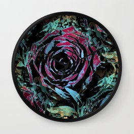 Mysterious roses Wall Clock