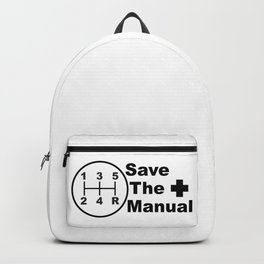 Save The Manual Decal Backpack