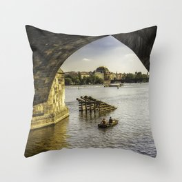 Fishermans Journey Throw Pillow