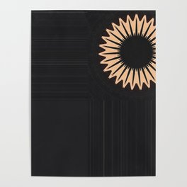 Modern Black Flower Design Poster