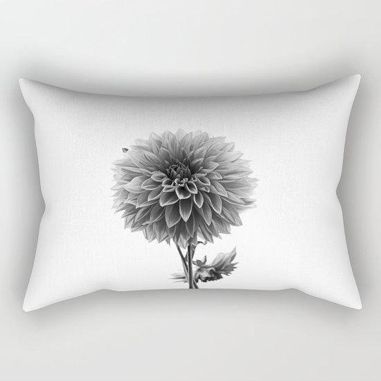 Dahlia - Monochrome Rectangular Pillow