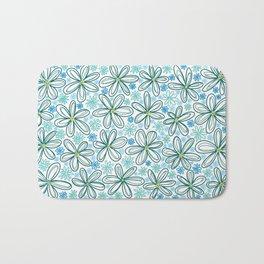 Blue Daisies Bath Mat