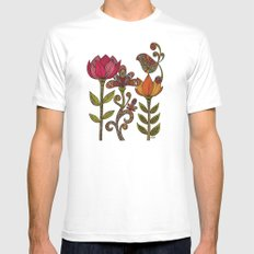 In the garden MEDIUM White Mens Fitted Tee