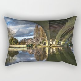 Beneath Reading Bridge Rectangular Pillow