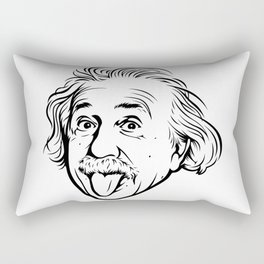 Albert Einstein Artwork With his famous photo showing tongue, Tshirts, Prints, Posters, Bags Rectangular Pillow
