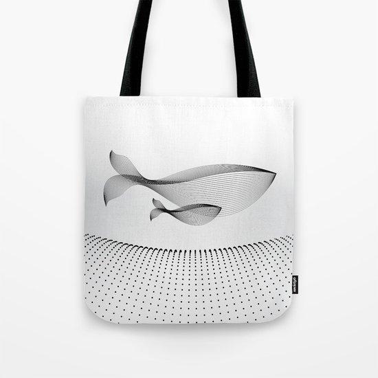 Minimal Whales Tote Bag