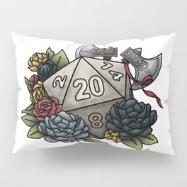 Barbarian Class D20 - Tabletop Gaming Dice Pillow Sham