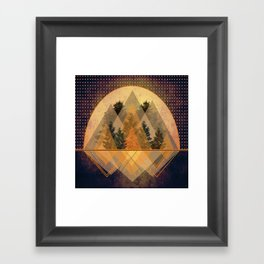 try again tree-angles mountains Framed Art Print