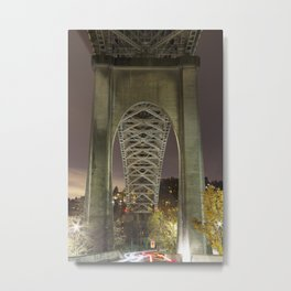 Luminous Bridge Metal Print