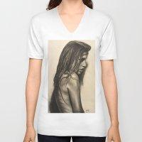 broken V-neck T-shirts featuring Broken by Lindsey Gill Art