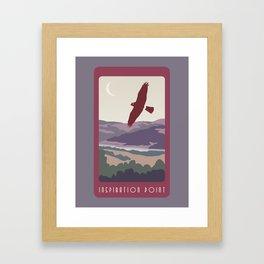 Inspiration Point Travel Poster Framed Art Print