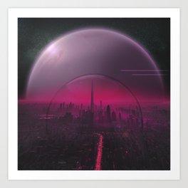 Cyber Punk Planet Art Print