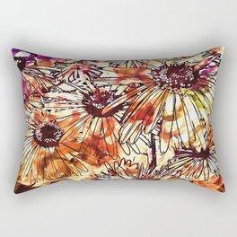 Abstract Floral 02 Rectangular Pillow