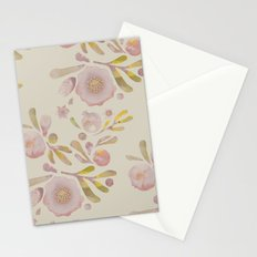 Granada Floral in Stone on grey Stationery Cards