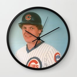 Jody Davis : Catcher : Cubs : Vintage Baseball Photograph Wall Clock