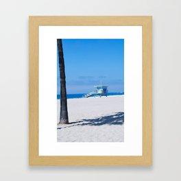 Lifeguard Tower I Framed Art Print