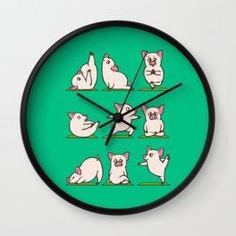 Pig Yoga Wall Clock