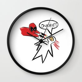 Dead pool Ouchie Wall Clock