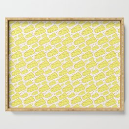 cheese seamless pattern background Serving Tray