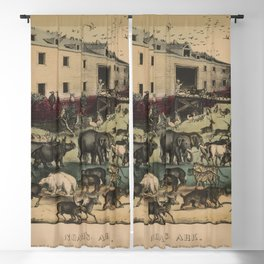Noah's Ark by Currier & Ives (1868-78) Blackout Curtain