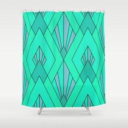 Emerald Art Deco Pattern Shower Curtain