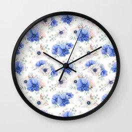 Blue Meadow 2 Wall Clock