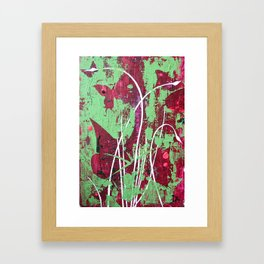 butterflys in grass Framed Art Print