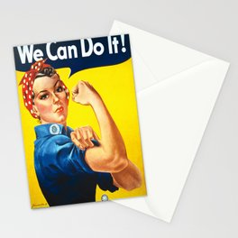 Vintage poster - Rosie the Riveter Stationery Cards