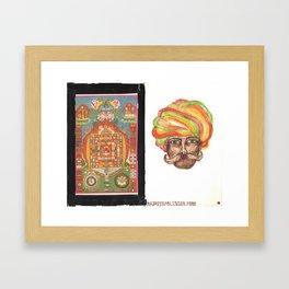 Tantric 5 (Travel Journal Entry) Framed Art Print