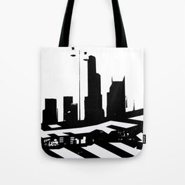 City Scape in Black and White Tote Bag