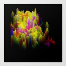Colors melting Canvas Print