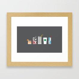New York Normal: Straws. Framed Art Print
