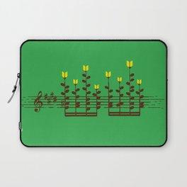 Music notes garden Laptop Sleeve