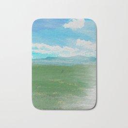 Watercolor painting of the Chianti hills Bath Mat