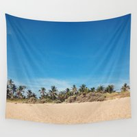 bikini Wall Tapestries featuring Welcome to Bikini Country by teal turner