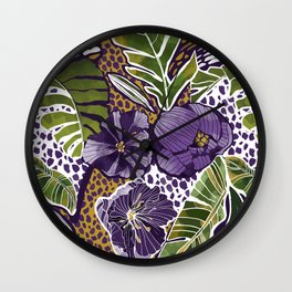 Nature jungle forms Wall Clock